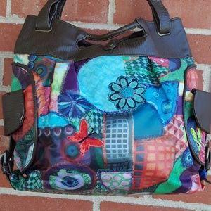 Decidual butterfly crossbody bag